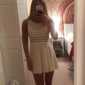 Free People lace cutout dress
